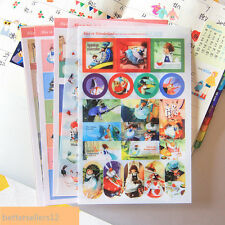 5 sheet Alice in wonderland notebook calendar Sticky notes Deco diary stickers