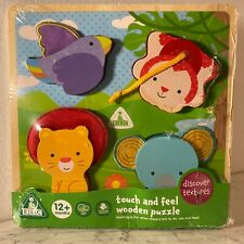 Early Learning Centre Touch And Feel Wooden Puzzle