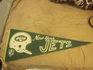 1967 NFL Football Pennant New York Jets