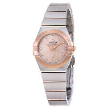 Omega Constellation Mother of Pearl Diamond Dial Ladies Watch 12320246057003