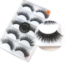 New 5 Pairs Luxurious 3D False Eyelashes Cross Natural Long Eye Lashes Makeup