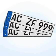 3 Stück EU KFZ Nummernschilder + Kennzeichen + Autoschilder #1