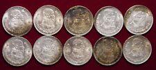 Lot 1 - 10 Mexican Silver Pesos All 1962 All Uncirculated Major Toning - L@@K