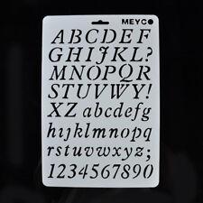 Letter Alphabet Number Flower Stencils Painting Scrapbooking Paper Cards Crafts