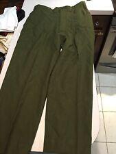Vintage Military 18 oz. Olive Drab Wool Serge Field Trousers Medium Reg
