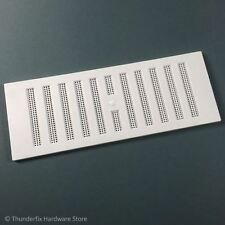 """White Adjustable Hit & Miss Air Vent 9"""" x 3"""" Ventilation with Fly Screen"""