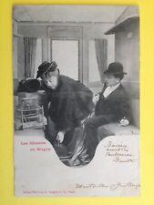 cpa 1900 Phot. BERGERET & Cie NANCY Les Gêneurs en Wagon TRAIN Chemin de Fer