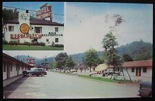 Wheeling WV MultiView Motel Fort Henry & Restaurant US 40 Old Cars Postcard