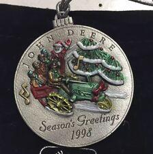 John Deere 1998 Pewter Ornament - 3Rd In Series