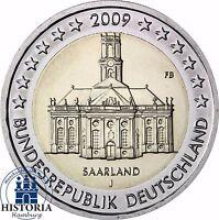 Saarland Ludwigskirche 2 Euro Deutschland 2009 bankfrisch Mzz. J