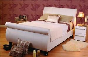 Diane Faux Leather Electric Sleigh Bed 6ft Super King Size  5 Year Warranty