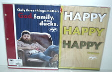 2 Lot Duck Dynasty Values Portfolio Folders HAPPY Phil & God, Family, then Ducks