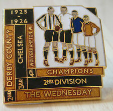 1926 WOLVERHAMPTON WANDERERS 2nd DIVISION 4th place badge Number 9 of 25 38mm sq