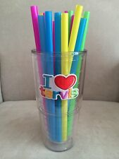 "40 9"" Multi-Color Large WidePlastic Drinking Straws *Will Fit 24 oz Tervis Cups*"