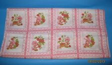 "VINTAGE! STRAWBERRY SHORTCAKE PINK SQUARES - RELEASED 1980 - APPROX. 17""X22"""
