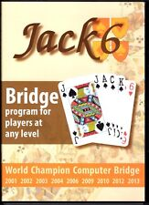 JACK 6 BRIDGE WORLD CHAMPION COMPUTER BRIDGE FOR PLAYERS AT ANY LEVEL PC/CD*
