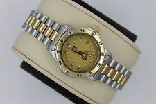 Tag Heuer 2000 Professional Gold 964.008 Watch Womens 2-Tone Mint Crystal SS EUC