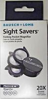 Bausch & Lomb 812367 3 Lance Magnifier Folding Pocket Loupe 5X-7X9X USA