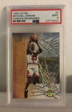 Michael Jordan 1993 Fleer Ultra #7 Famous Nicknames Bulls Graded PSA 9 MINT