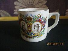Vintage King George V & Queen Mary Silver Jubilee Mug ( HAIRLINE CRACK )