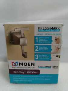 Hensley Double Robe Hook with Press and Mark in Brushed Nickel by MOEN