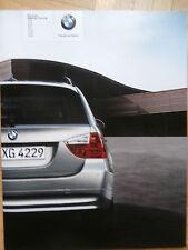 BMW 318i 320i 325i 330i 318d 320d 330d e91 Touring 9/2005 BROCHURE CATALOGO