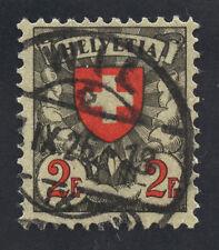01876 Switzerland Scott #203, 2 Francs, CDS cancel, gum not grilled
