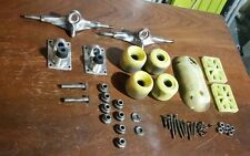 Vintage skateboard trucks wheels risers hardware skid plate 70s 80s old school