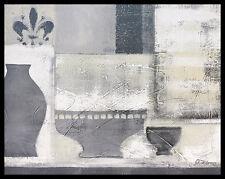 Anna Flores Shades of Grey Poster Bild Kunstdruck im Alu Rahmen schwarz 40x50cm