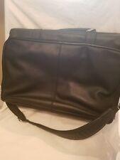 Black leather computer bag
