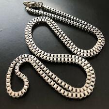 Inox collana in acciaio da uomo catenina 50 cm girocollo catena box argento 2 mm