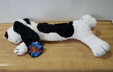Toy Works Soft Black and White Plush Puppy Dog ~ 12 inches ~ NWT