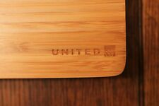 Bamboo Cutting Board Set, 5 Pc, United Airlines w/ logo, RARE Item, cmpy store