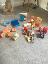 Pin Toy Collection Of Wooden Dolls House Furniture, Bedroom Bathroom Lounge Doll