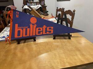 Vintage 1970 Baltimore Bullets full size defunct rare Full  basketball pennant !