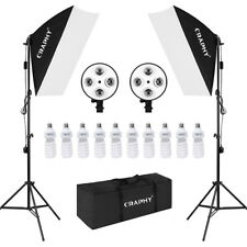 10*45W Kit Iluminación Continua para Fotografía Lámpara Studio Softbox carry bag