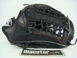 "Louisville Slugger 12.5"" Outfield Baseball / Softball Glove Black Alligator RHT"