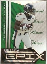 2010 EPIX GREEN MOMENT PARALLEL EDDIE ROYAL BRONCOS CHARGERS - FREE SHIP
