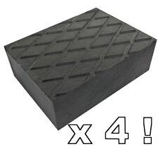 4 X bloc de caoutchouc 160x120x60 mm pour Pont elevateur tampons - Made in Italy