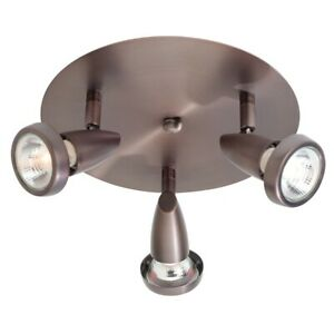 Access Lighting Mirage 3 Light Flush Mount, Bronze - 52221LEDDLP-BRZ