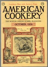 A Vintage Issue of the American Cookery Magazine for October 1935