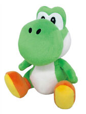 """REAL AUTHENTIC  Little Buddy Super Mario 1416 All Star   Green Yoshi 8"""" Plush"""