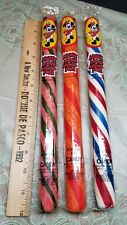 3 Vintage Nos Sealed Walt Disney Prod  Mickey Mouse Circus Pole jumbo candy cane