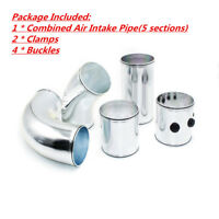 """Universal 3"""" Car Cold Air Intake Pipe Kit Combined Alumimum Induction System"""