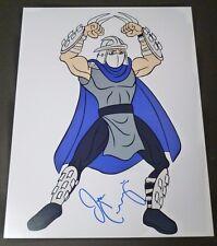 """JIM CUMMINGS Hand-Signed """"Teenage Mutant Ninja Turtles - Shredder"""" 11x14 (PROOF)"""