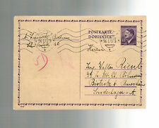 1945 Prague Germany to Bistritz Concentration Camp Postcard Cover Walter riento