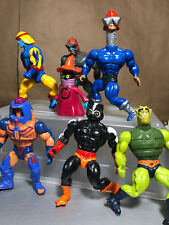Vtg HE-MAN Masters of the Universe 80s Figure Lot Orko Stratos Man-E-Faces