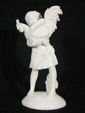 Fine Vienna Augarten Figurine of Girl w/ Rooster Blanc de Chine c1923 or later