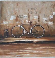Bicycle canvas painting, Hoi anh, Vietnam