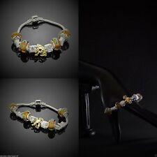 Modeschmuck-Bettelarmbänder mit Charms aus Acrylglas